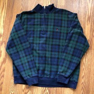 Vtg Polo Ralph Lauren 1/4 zip plaid pullover